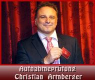 Aufnahmeprüfung Christian Armberger