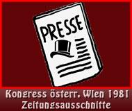 Kongress1981 österr. Wien Zeitungsausschnitte